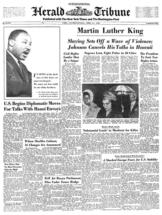 Martin Luther King Jr Dead Pictures VERTIGO | Message from...